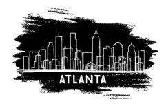 Silueta del horizonte de Atlanta los E.E.U.U. Bosquejo drenado mano libre illustration