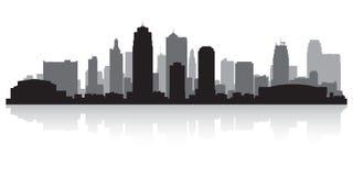 Silueta del horizonte de Kansas City Missouri ilustración del vector
