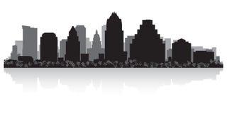 Silueta del horizonte de la ciudad de Austin Texas ilustración del vector