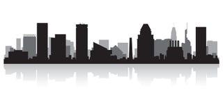 Silueta del horizonte de la ciudad de Baltimore Maryland ilustración del vector
