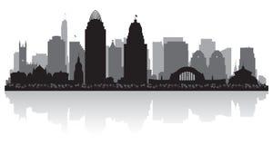 Silueta del horizonte de la ciudad de Cincinnati Ohio ilustración del vector