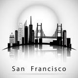 Silueta del horizonte de la ciudad de San Francisco Fotografía de archivo