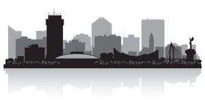 Silueta del horizonte de Wichita Kansas City stock de ilustración