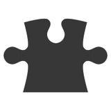 silueta del icono del pedazo del rompecabezas stock de ilustración