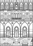 Silueta del interior de la casa Ilustración del vector Fotos de archivo libres de regalías