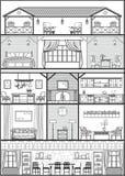 Silueta del interior de la casa Ilustración del vector Fotografía de archivo libre de regalías