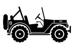 Silueta del jeep. Imagen de archivo libre de regalías