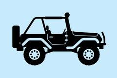 Silueta del jeep Imagen de archivo libre de regalías