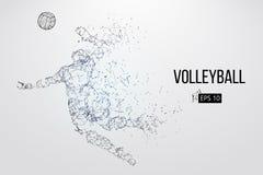 Silueta del jugador de voleibol Ilustración del vector stock de ilustración