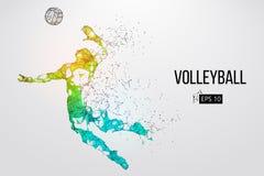 Silueta del jugador de voleibol Ilustración del vector ilustración del vector