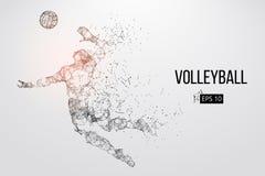 Silueta del jugador de voleibol Ilustración del vector