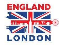 Silueta del &London de Reino Unido Imágenes de archivo libres de regalías