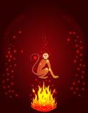 Silueta del mono del fuego Imagen de archivo