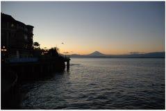 Silueta del Mt Fuji imagen de archivo libre de regalías