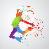 Silueta del muchacho del baile Fotografía de archivo