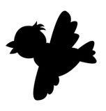 Silueta del pájaro Fotografía de archivo