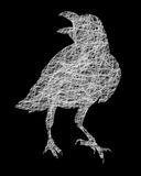Silueta del pájaro de Raven Crow Foto de archivo libre de regalías