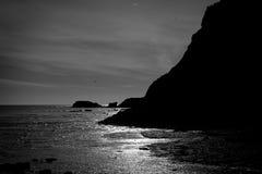 Silueta del paisaje marino Foto de archivo