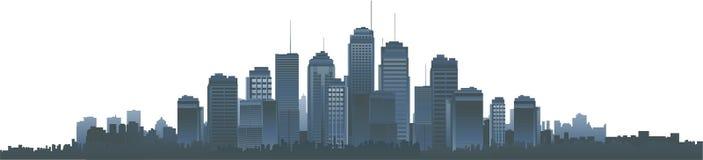 Silueta del paisaje urbano del vector
