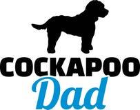 Silueta del papá de Cockapoo stock de ilustración