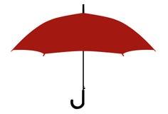 Silueta del paraguas Fotografía de archivo