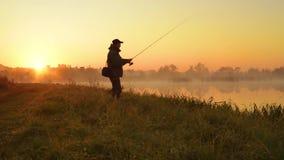 Silueta del pescador metrajes