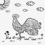Silueta del pollo Imágenes de archivo libres de regalías