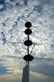 Silueta del radar foto de archivo libre de regalías