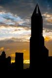 Silueta del rascacielos de Shangai Imágenes de archivo libres de regalías