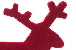 Silueta del reno del fieltro del rojo Imagenes de archivo