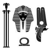 silueta del símbolo egipcio ilustración del vector