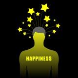 Silueta del ser humano con las estrellas Fotografía de archivo libre de regalías