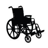 Silueta del sillón de ruedas Foto de archivo libre de regalías