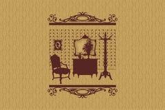 Silueta del sitio. Muebles. Fotografía de archivo