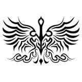 Silueta del tatuaje del pájaro Imagen de archivo