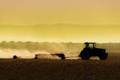 Silueta del tractor Imagen de archivo