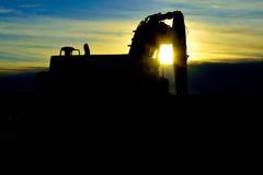 Silueta del tractor Fotos de archivo libres de regalías