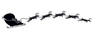 Silueta del trineo de Papá Noel Fotos de archivo libres de regalías