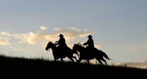 Silueta del vaquero Foto de archivo