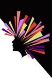 Silueta del vector de la cara de la mujer Fotos de archivo libres de regalías