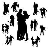 Silueta del vector de la danza Imágenes de archivo libres de regalías