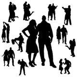 Silueta del vector de la danza Imagenes de archivo