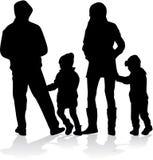 Silueta del vector de la familia Imagenes de archivo