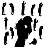 Silueta del vector de la gente Foto de archivo libre de regalías