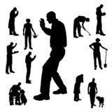 Silueta del vector de la gente Imagen de archivo libre de regalías