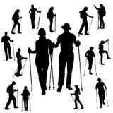 Silueta del vector de la gente Foto de archivo