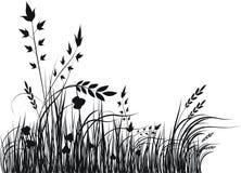 Silueta del vector de la hierba Fotos de archivo