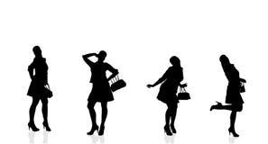 Silueta del vector de la mujer Imágenes de archivo libres de regalías