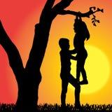 Silueta del vector de niños Fotos de archivo libres de regalías