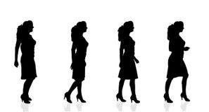 Silueta del vector de una mujer Fotografía de archivo